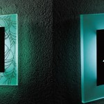 LEDバックライト表札シリーズ切抜き+ガラスタイプ-LED表札